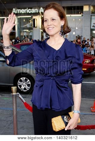 Sigourney Weaver at the Los Angeles premiere of 'Scott Pilgrim vs. The World' held at the Grauman's Chinese Theater in Hollywood, USA on July 27, 2010.