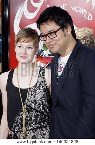 Hope Larson and Bryan Lee O'Malley at the Los Angeles premiere of 'Scott Pilgrim vs. The World' held at the Grauman's Chinese Theater in Hollywood, USA on July 27, 2010.