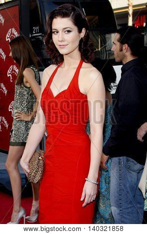 Mary Elizabeth Winstead at the Los Angeles premiere of 'Scott Pilgrim vs. The World' held at the Grauman's Chinese Theater in Hollywood, USA on July 27, 2010.
