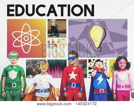 Education Science Physics Graphic Icons Concept