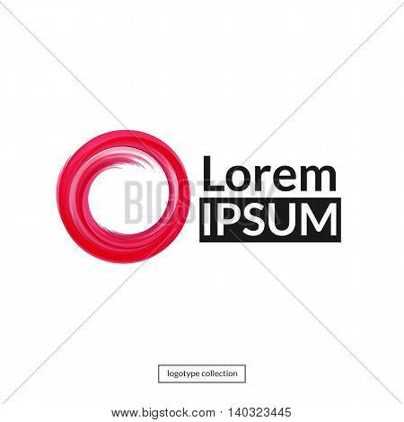 Abstract round element for design. Red circle logo template.