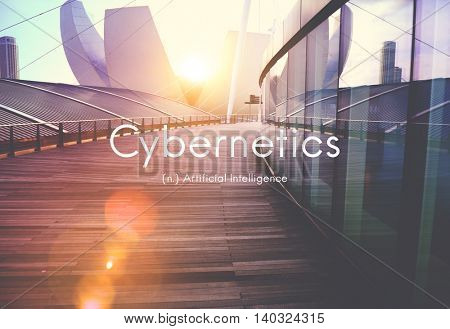 Cybernetics Artificial Intelligence Technology Graphic Concept