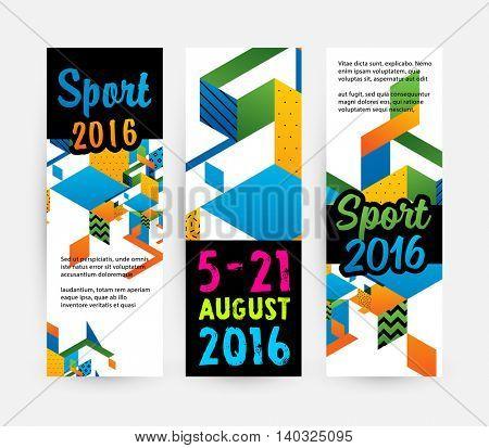 Summer sport 2016 concept template, Design for brochure, website, book or flyers.