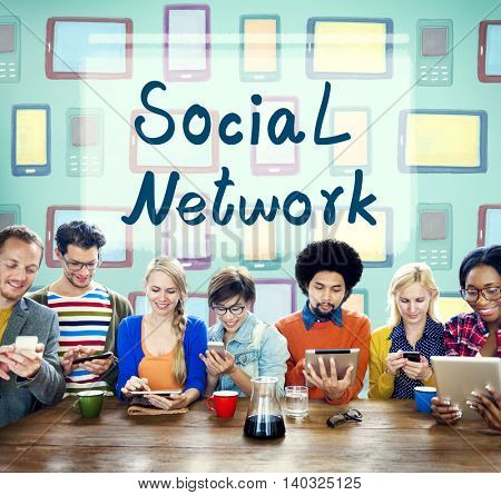 Social Network Connection Global Communications Concept