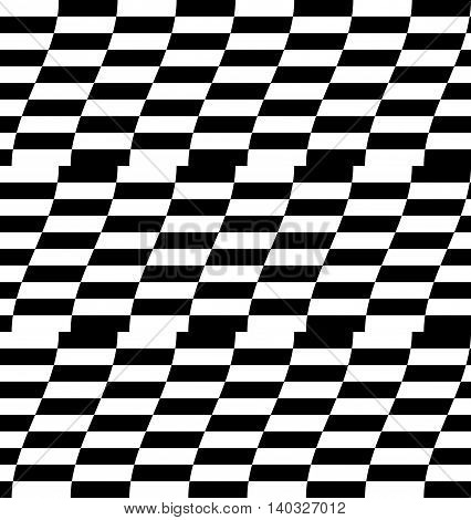 Repeatable Distorted Pattern With Rectangles, Black And White Texture