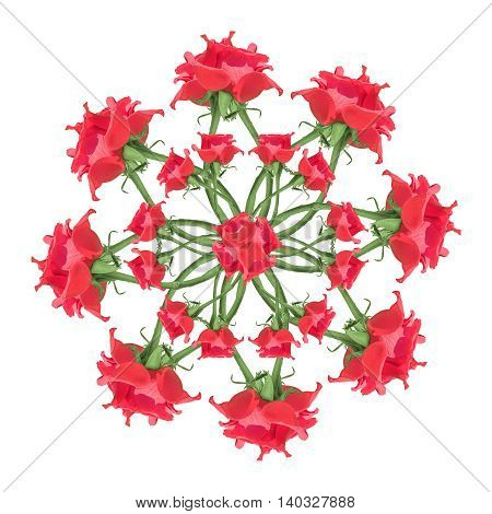Red Roses Floral Ornament