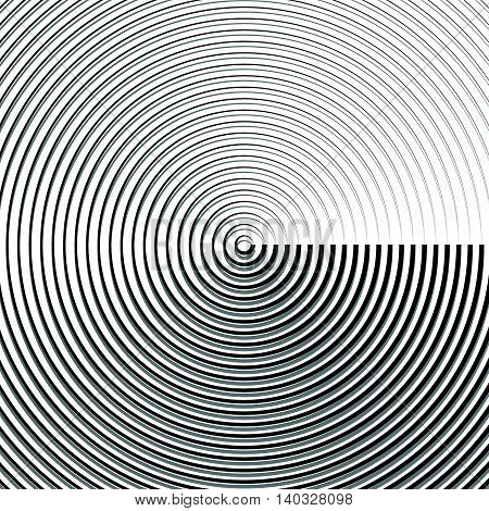 Circular Ripple Pattern, Concentric Circles, Rings Abstract Geometric Illustration
