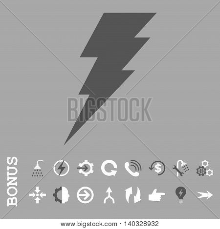Execute vector bicolor icon. Image style is a flat iconic symbol, dark gray and white colors, silver background.
