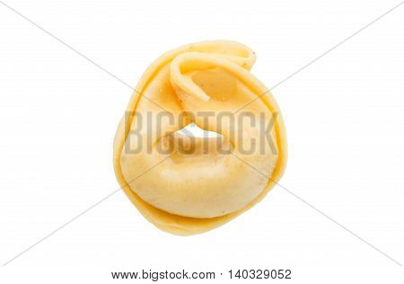 tortellini traditional  italian  food  on a white background