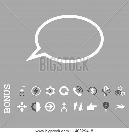 Hint Cloud vector bicolor icon. Image style is a flat pictogram symbol, dark gray and white colors, silver background.
