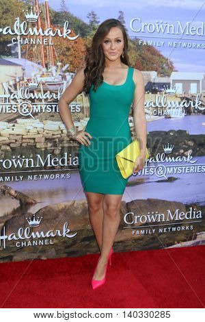 LOS ANGELES - JUL 27:  Crystal Lowe at the Hallmark Summer 2016 TCA Press Tour Event at the Private Estate on July 27, 2016 in Beverly Hills, CA