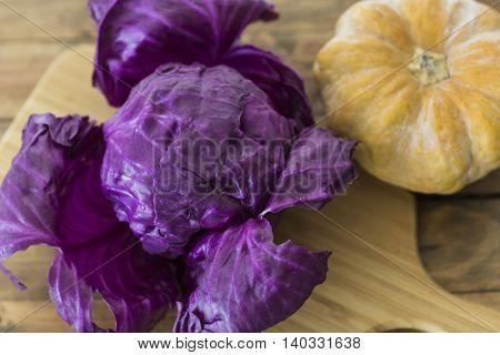 Scotch kale and pumpkin