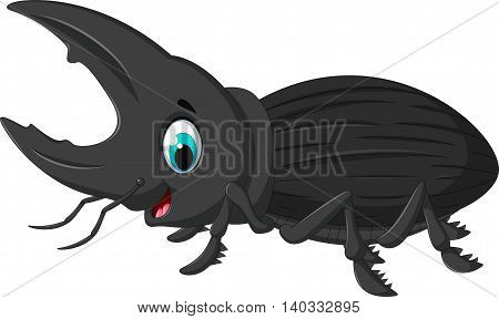 funny bug Hercules cartoon for you design