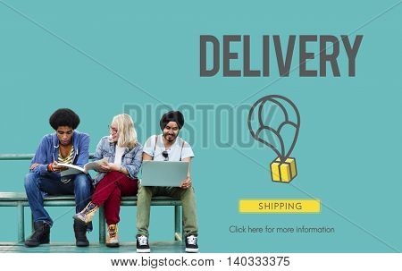 Delivery Courier Commodity Freight Goods Order Concept
