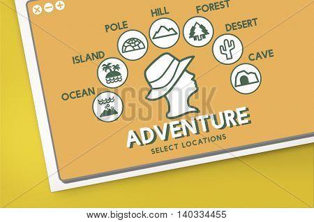 Adventure Travel Journey Experience Concept