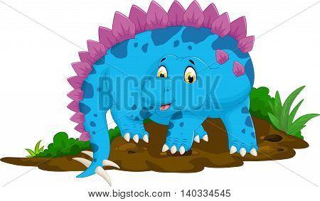 funny stegosaurus cartoon posing for you design