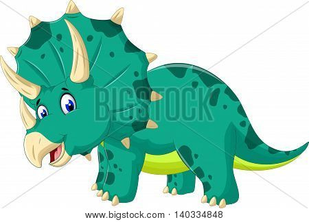cute dinosaur Triceratops cartoon for you design