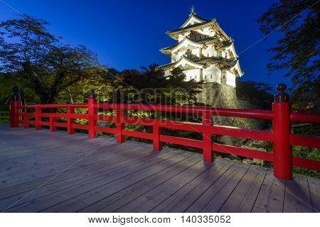 Hirosaki, Aomori, Japan at Hirosaki Castle.