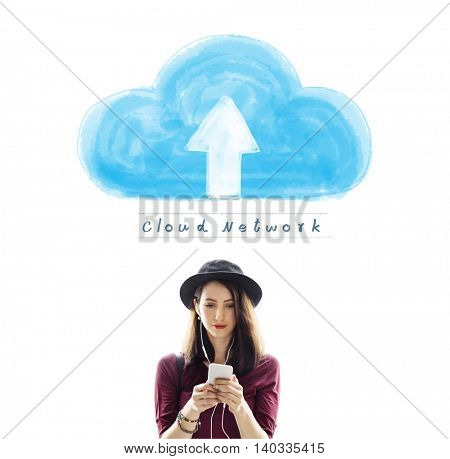 Cloud Network Connecting Technology Internet Online Concept