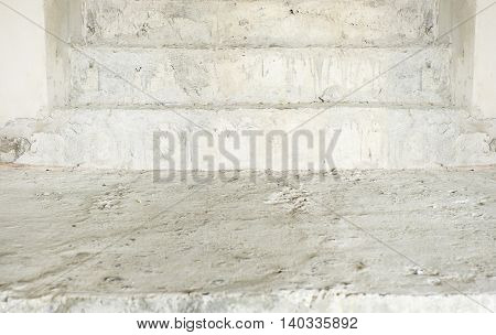 close up grunge concetet stair texture background.
