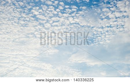look up Evening sky and cloud nature background.