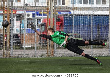 Goalkeeper on gates