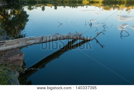 Colorado peaceful pond on a calm day with great reflections