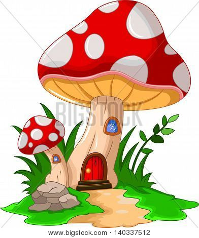 beauty mushroom house cartoon for you design