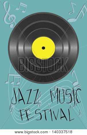 Vector - Illustration with jazz  Music festival concept.