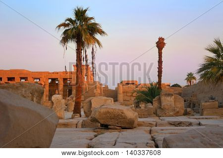 Ruins At Karnak Temple, Egypt