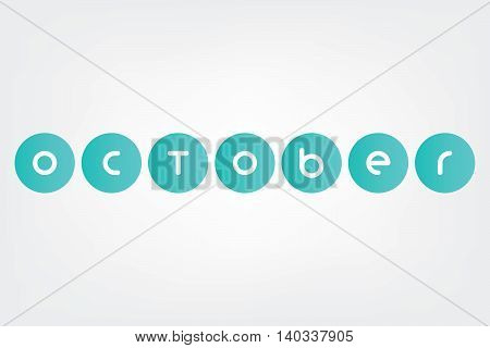 december, Names of months of the year in white background