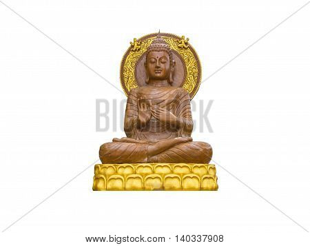 the Buddha statue isolate on white background