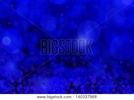 Abstract Blue winter bokeh defocused backgroundfor your webdesign.