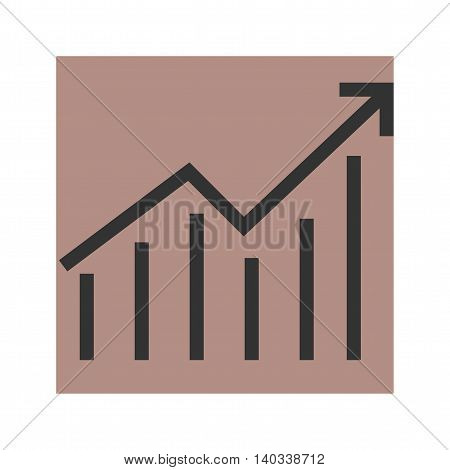 Arrow, graph, economy icon vector image. Can also be used for infographics. Suitable for use on web apps, mobile apps and print media.