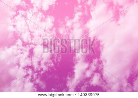 Bright purple pink gradient filter sky and clouds for background