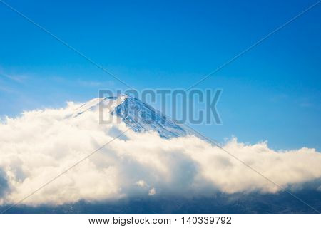 Mountain Fuji with blue sky , Japan