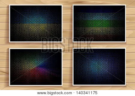 Colorful Blurred Vector Set