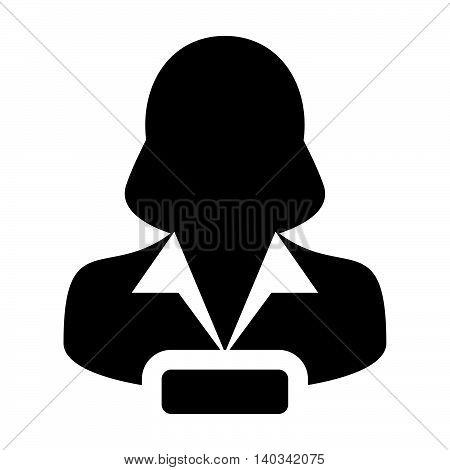 Remove User Icon - Woman, Account, Avatar, Profile Glyph Vector illustration
