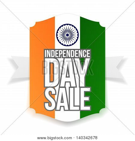 India Independence Day Sale Banner. Vector Illustration