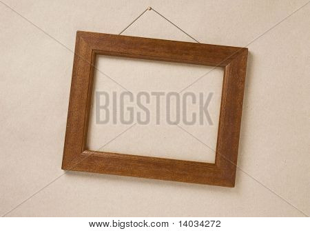 empty frame on the wall, with space for your image or text