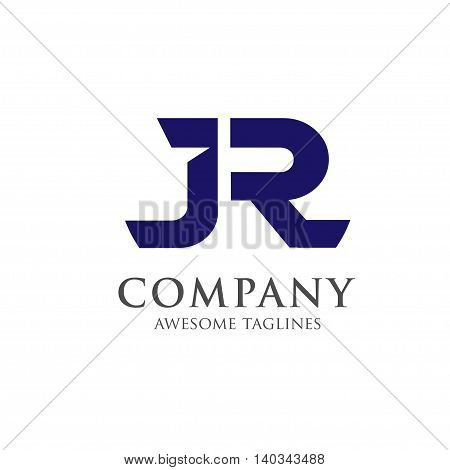 letter JR creative logo concept, innovative JR letter icon concept