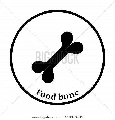 Dog Food Bone Icon