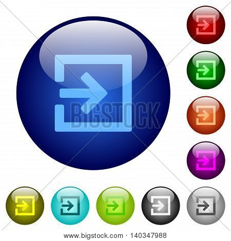 Set of color import glass web buttons.