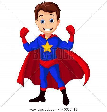 funny superhero cartoon posing for you design