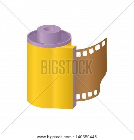 Film icon in cartoon style isolated on white background. Photography symbol
