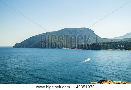 Ayu-Dag or Medved'-gora Crimea. Bear mountain on Black Sea