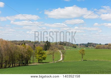 Landscape in French Limousin
