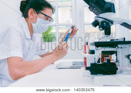 (science) Scientists Are Certain Activities On Experimental Science Like Mixing Chemicals, Microscop