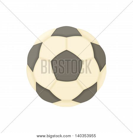 Soccer ball icon in cartoon style isolated on white background. Game symbol