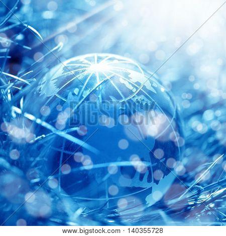conceptual image of a glass globe